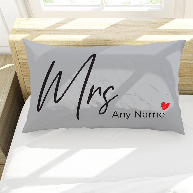 Mrs - Personalised Pillow Case