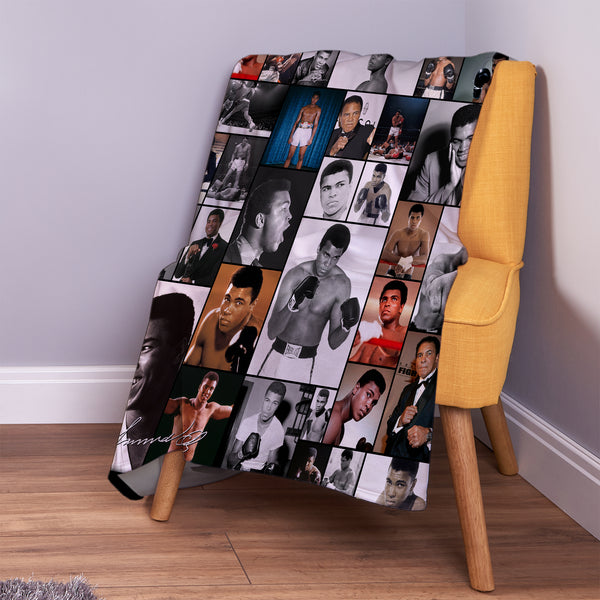 Celebrity Montage -  Muhammed Ali Fleece Throw