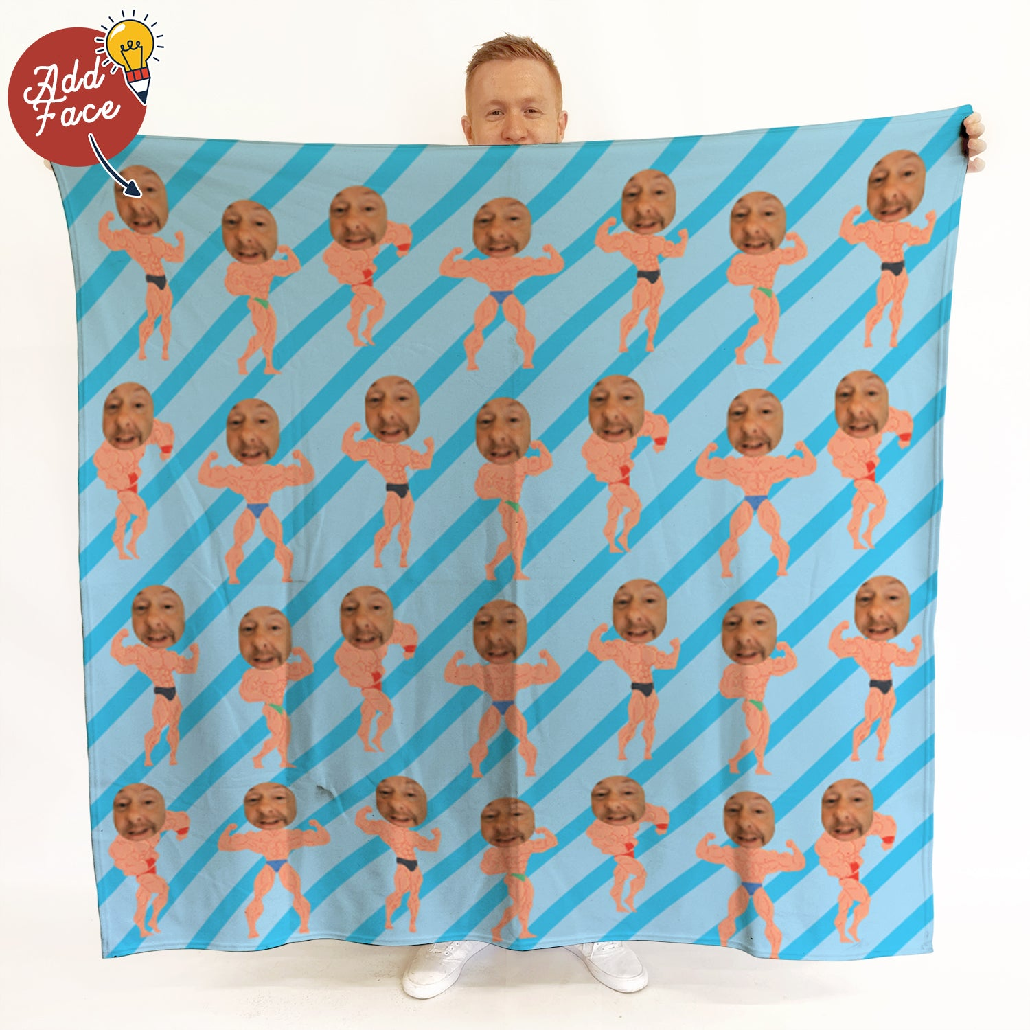 Muscle Man - Face Character Blanket