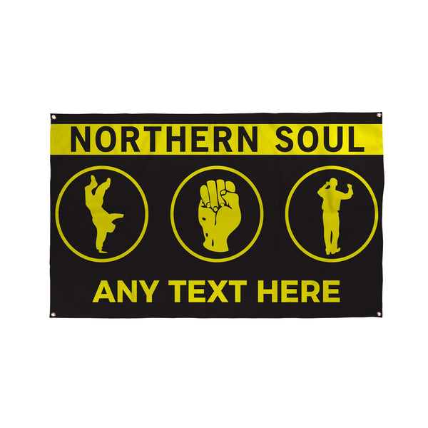 Northern Soul Yellow Bar Banner - 5ft x 3ft | Funny Pub Signs UK