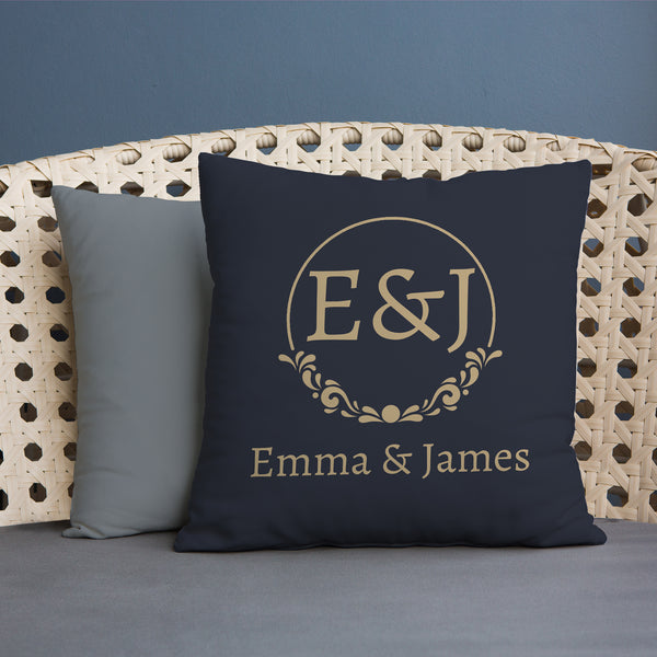 Gold Monogram - 45cm Cushion