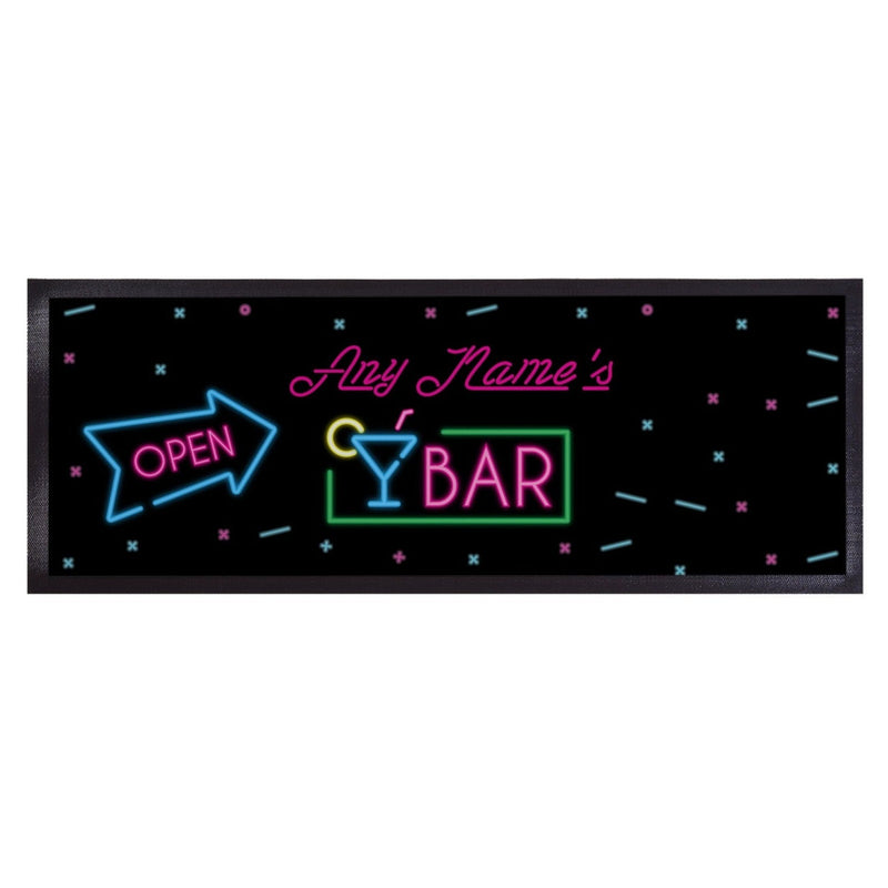 Personalised Bar Runner - Neon Bar Sign