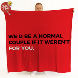 Normal Couple Funny Valentines Day Photo Fleece Blanket Throw