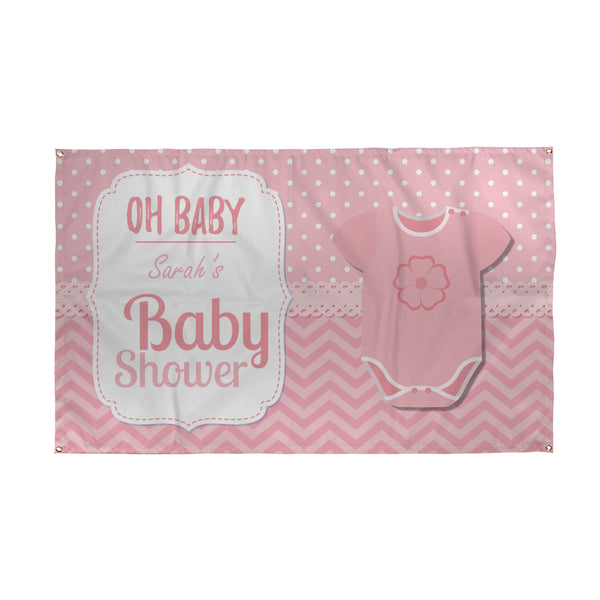Baby Shower Personalised Banner