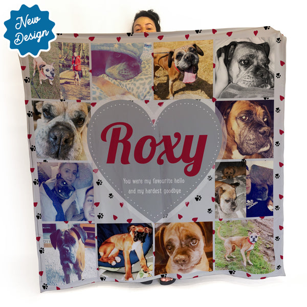 Pet Memorial -  Photo Fleece Blanket