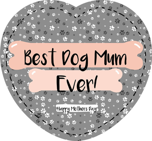 Best Dog Mum Ever - Heart Shaped Photo Cushion