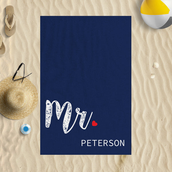 Mr Personalised Beach Towel