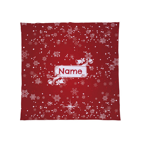 Personalised Snowy Red - Christmas Fleece Blanket