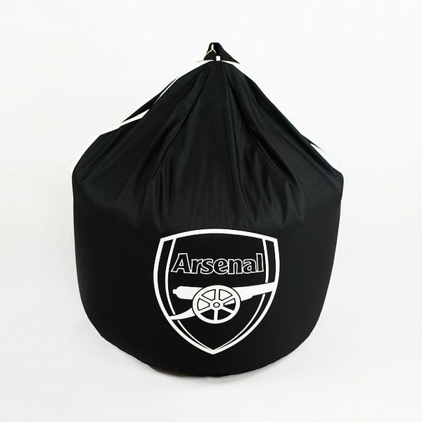 Personalised Arsenal FC Bean Bag - Black