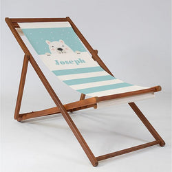 Personalised Bear Cub Blue - Baby Deck Chair