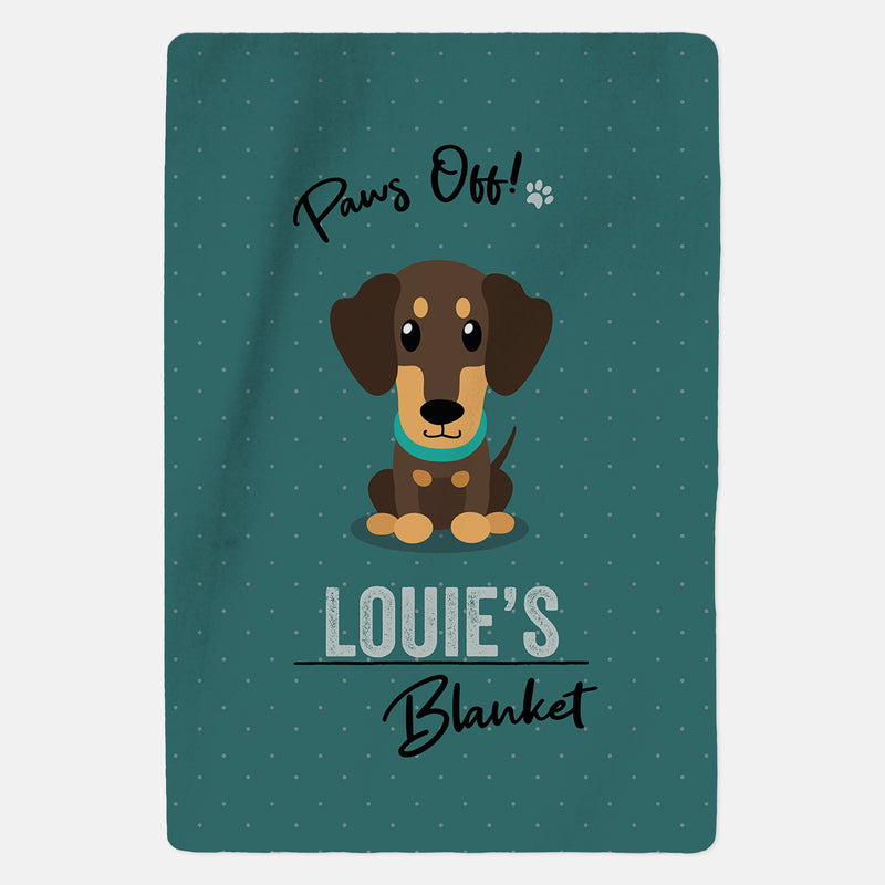 Personalised Brown Dachshund Blanket - Paws Off