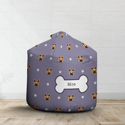 Personalised Brown French Bulldog Bean Bag - Pattern