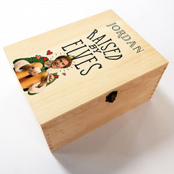 Personalised Elf Raised by Elfs Box Christmas Eve Box