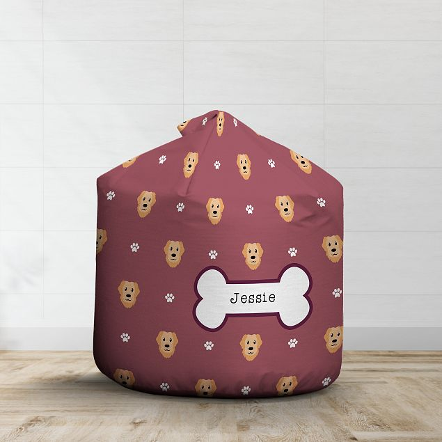 Personalised Golden Retriever Bean Bag - Pattern
