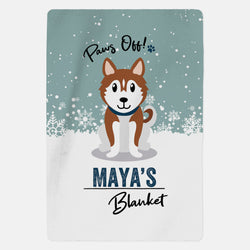 Personalised Husky Blanket - Paws Off