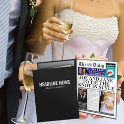 Personalised The Daily Wedding News Folder