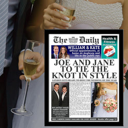 Personalised The Daily Wedding News Single Page Print