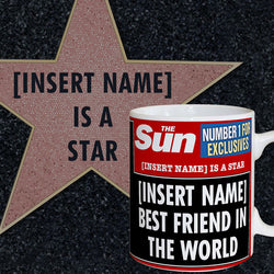 Personalised The Sun News Best Friend Mug