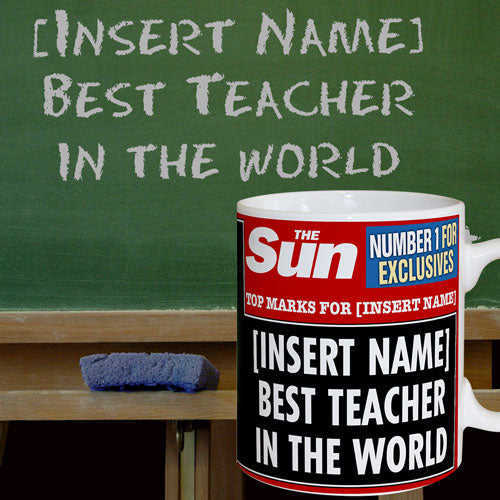 Personalised The Sun News Best Teacher Mug