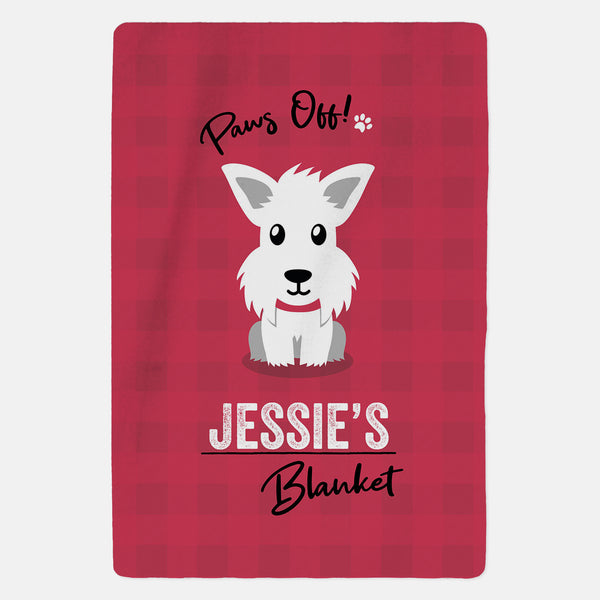 Personalised Westie Blanket - Paws Off