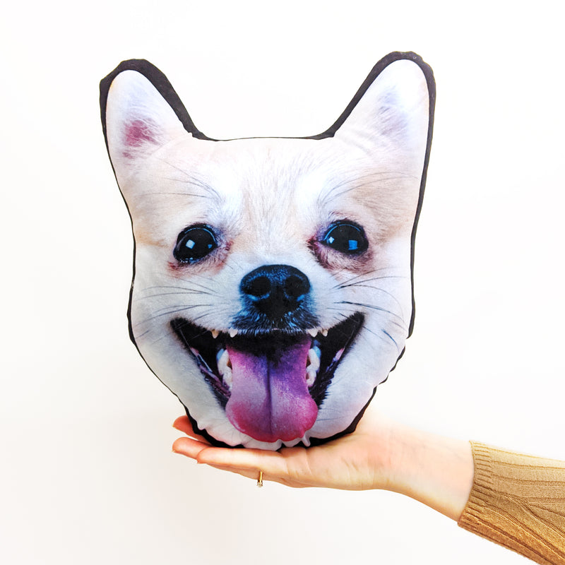 personalised pet face cushion