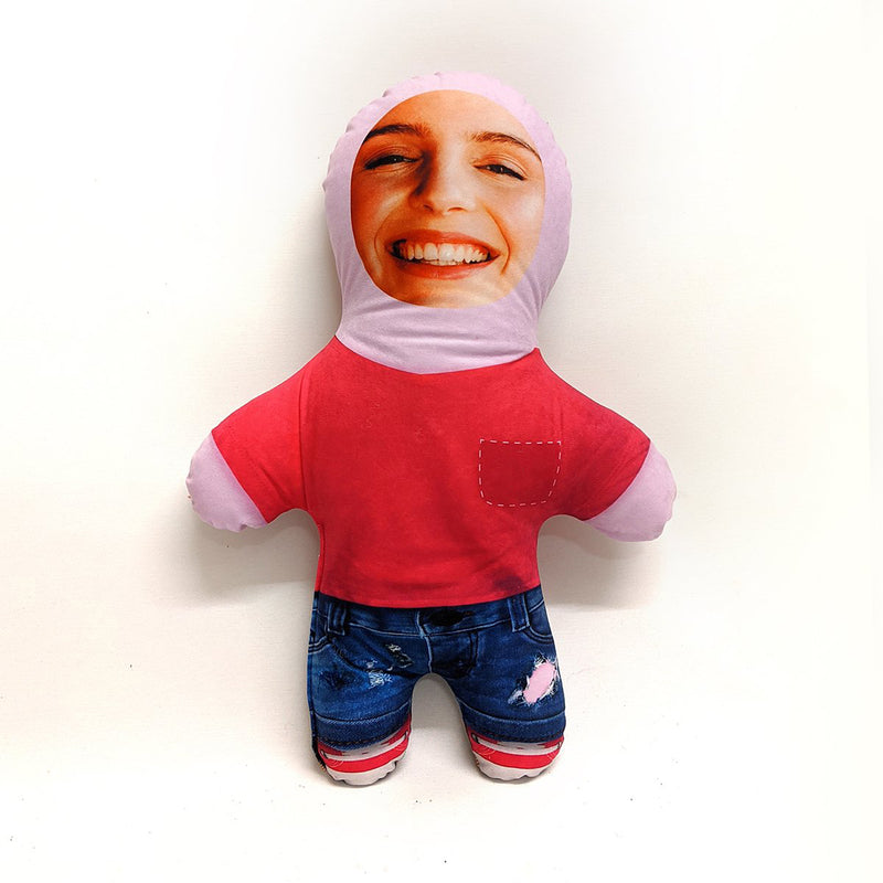 Pink T-Shirt Girl - Personalised Mini Me Doll