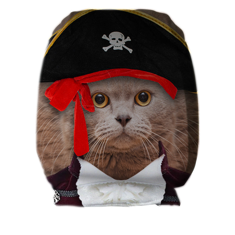 Pirate Cat - Car Seat Headrest Covers