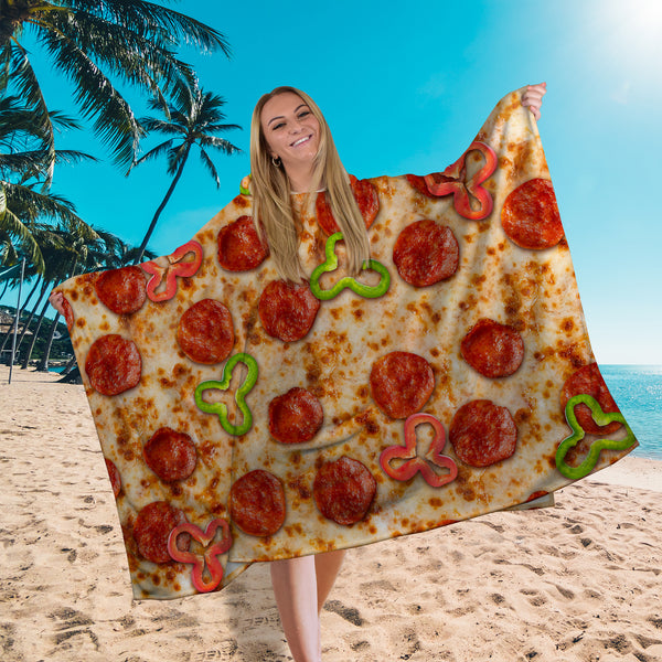 Hooded Towel - Pizza