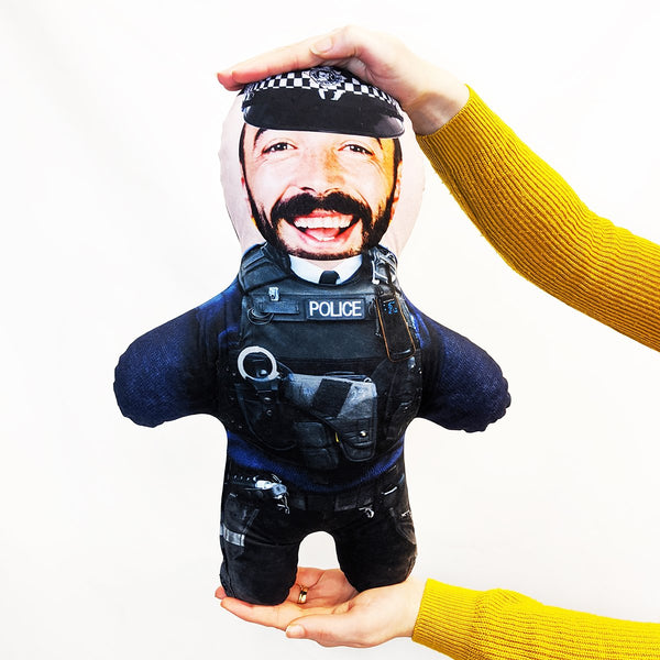 police man mini me doll