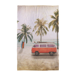 Personalised Beach Towel - Vintage Postcard