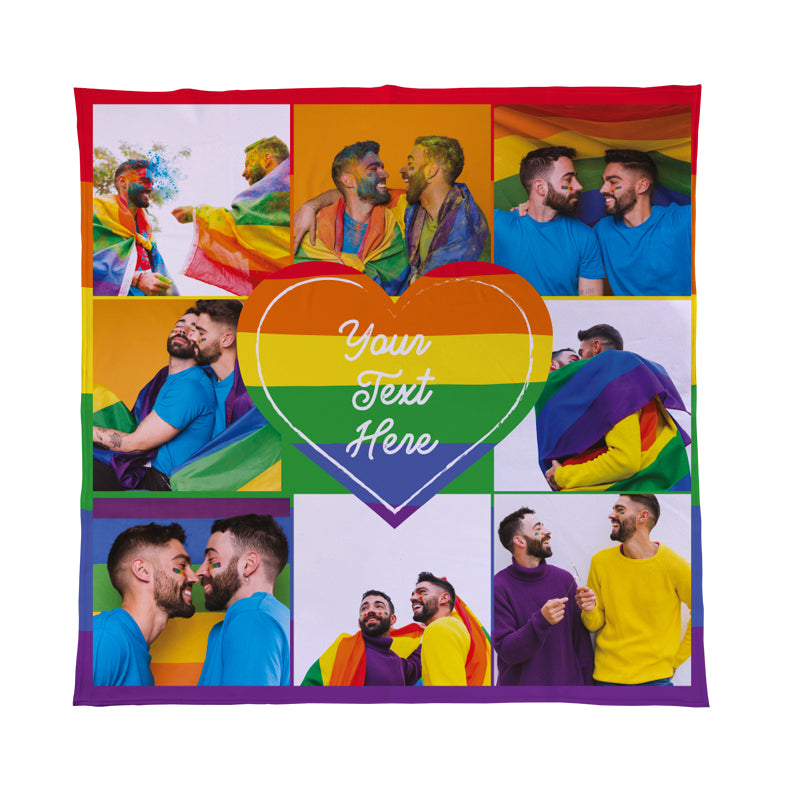 Pride - 8 Photo - Personalised Photo Fleece Blanket