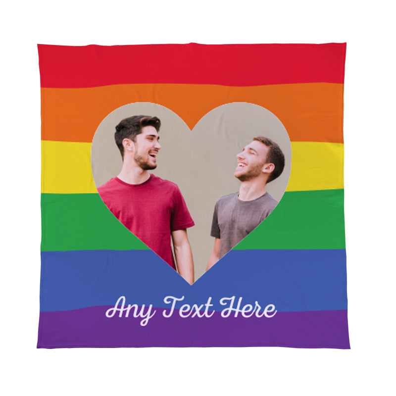 personalised photo fleece blanket throw pride
