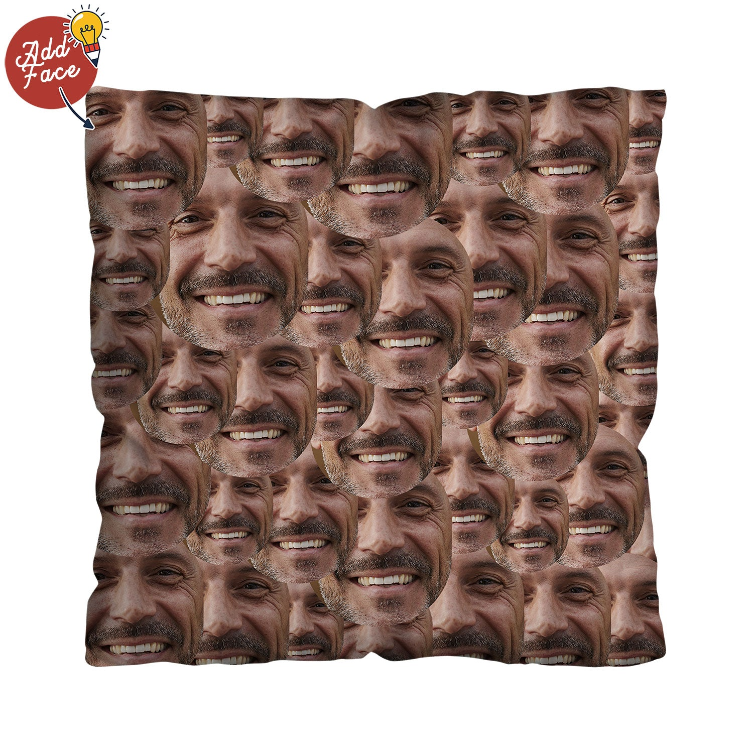 Your Face All Over - 45cm Cushion