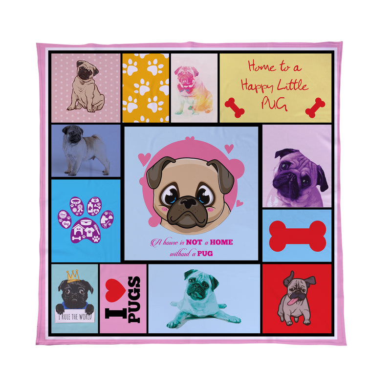 pug pet blanket dog gift
