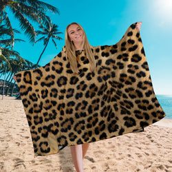 Hooded Towel - Real Leopard Print