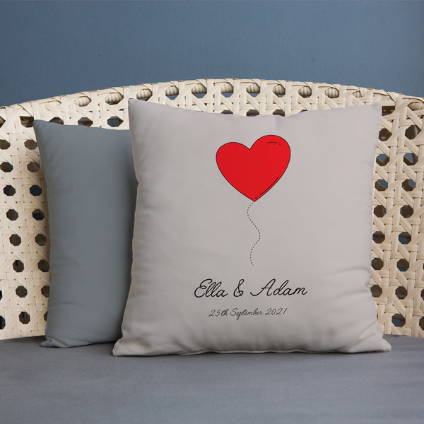 Red Heart Balloon - 45cm Cushion