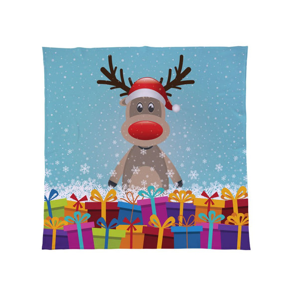Christmas Rudolph Fleece Throw Kids