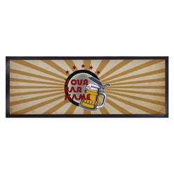 Personalised Bar Runner - Retro Beer
