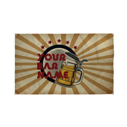 Retro Bar Name Banner - 5ft x 3ft | Funny Personalised Pub Sign UK