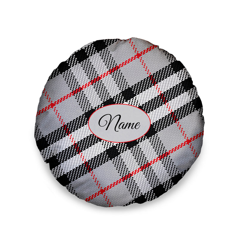 Red and Black Tartan- Personalised Dog Bed