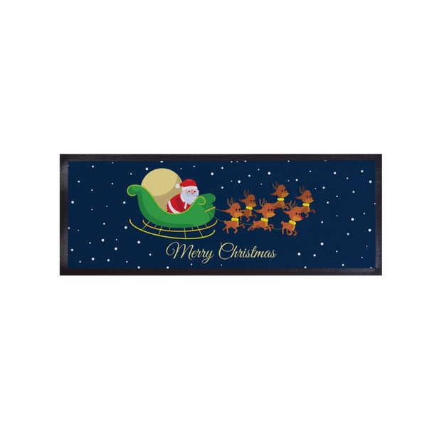 Santa Sleigh Merry Christmas - Bar Runner