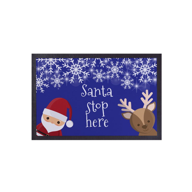 Santa Stop Here - Door Mat