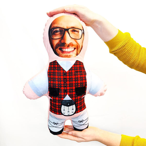 scottish red tartan mini me doll