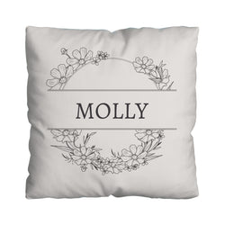 Cream Wreath - Personalised 45cm Cushion