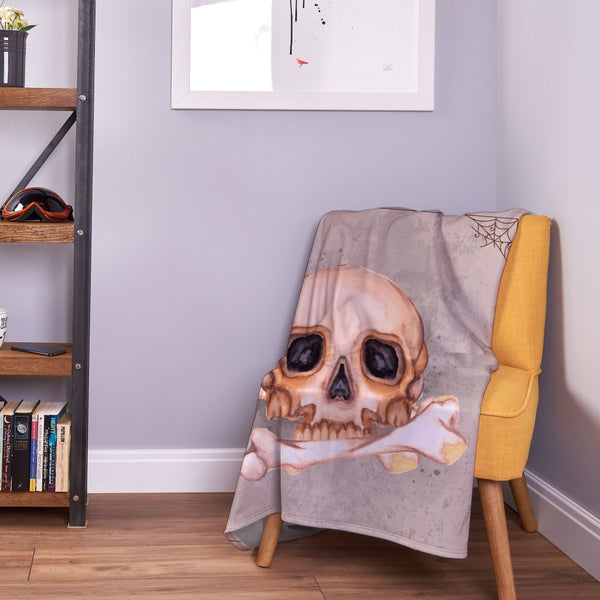 Skull and Bones - Halloween Fleece Throw