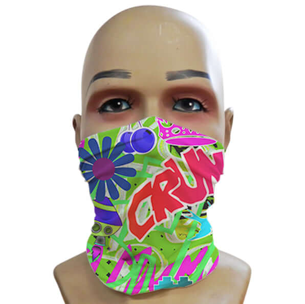Acid Graffiti Green - Mini Snood