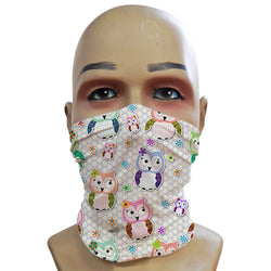 Cute Owl Lilac - Mini Snood