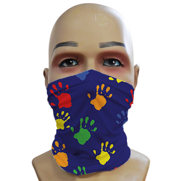 Handprints Blue - Mini Snood