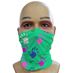 Handprints Teal - Mini Snood