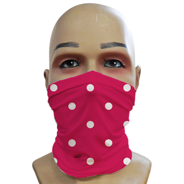 Polka Dot Hot Pink - Mini Snood